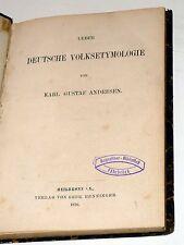 Karl Gustav Andresen: Über deutsche Volksetymologie (1876)