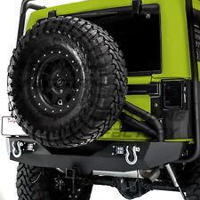 Rear Bumper+Tire Carrier+Single handed Linkage+LEDs For 07-18 Jeep JK Wrangler