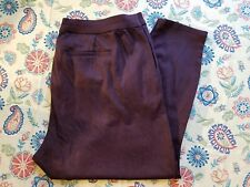 KUT FROM THE KLOTH SIZE 22W WOMEN'S HAWTHORNE BURGUNDY ANKLE LENGTH DRESS PANTS