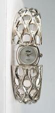 Bob Mackie Women's Silver-Tone Bracelet/ Concealed Watch M3420SX. Mint!
