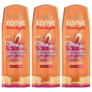 3pk L'Oreal Elvive Dream Lengths Detangling Conditioner for Long Hair 500ml