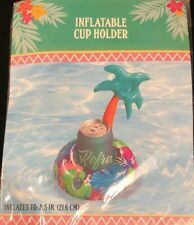 Tropical Palm Tree - Inflatable Pool Cup Holder - Novelty Floating Drink Holder
