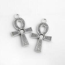 5PC Tibetan Silver Big Cross Charm Pendant For DIY Earrings/Bracelet/Necklace