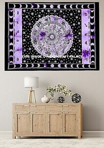 Indian Horoscope Tapestry Zodiac Astrology Wall Hanging Hippie Tapestries Throw