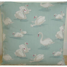 "16"" Cushion Cover Swans Duck Egg Green Swan Covers 16x16"