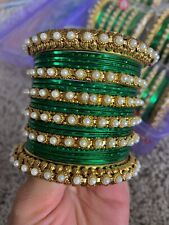 USA Indian Bollywood Bangles Bracelet  Jewelry Wedding Set Bridal Women 2.4, 2.6