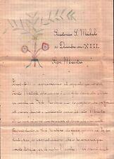 LETTERA DA ALUNNO DI GIUSTENICE SAN MICHELE AL MAESTRO SCRITTA NEL 1934 C8-565