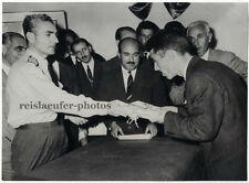 Mohammad reza pahlavi, shah de perse, Original presse-photo de 1961.