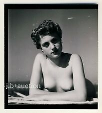 STUTTGART Nackt am Max-Eyth-See Nude Girl Boating * 60s SEUFERT Contact Print #5