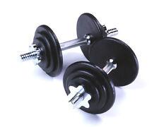 20KG Pro Dumbbell Set, 2 x 10KG, Spinlock Bars, Slim Iron Weight Discs / Plates