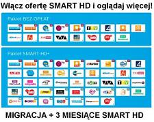 Migracja Przejscie TNK SD na Smart HD+ Doładowanie 3 Miesiące Telewizja na karte