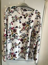 Marks And Spencers Ivory Mix Long Sleeved Top Size 14 Immaculate