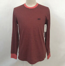 Obey Men's LS Knit T-Shirt Wisemaker Rose/Black Size M NWT Shepard Fairey