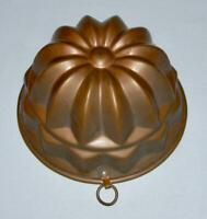 "Vintage Quality Solid Copper 6"" Round Tiered FLORAL MOLD w/Tin Lining (30 Oz.)"