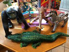 Frenry Company Barnum's Animals X 4 Inflatable Giraffe Gorilla Alligator Zebra