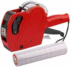 8 Digits Price Gun With Labels Stickers Retail Pricing Tagging Labeler Rolls Ink
