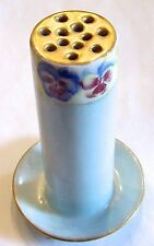 Pretty Vintage Hat Pin HATPIN Holder With Pansies