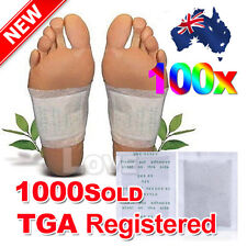 OZ J 100 Sticky Adhesives 100x Detox Foot Pads Patch Natural plant Toxin Removal