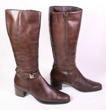 30S Stonefly Stiefel Boots Leder braun Gr. 41 kniehoch Schaftstiefel Reiterlook