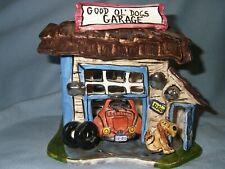 2003 Blue Sky Clayworks Good Ol' Dogs Garage Tealight Holder w/tealight New