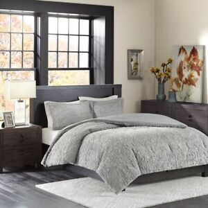 Luxury Grey Ultra Plush Comforter AND Pillow Shams - ALL SIZES