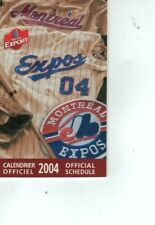 Montreal Expos 2004 Pocket Schedule Final Season - French