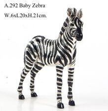 BRONZE SCULPTURE AFRICAN BABY ZEBRA ART DECO STATUE FIGURINE FIGURE DECOR