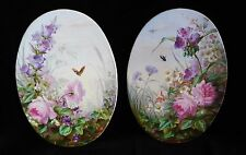 Pair of Signed Antique French Porcelain Plaque Beautiful KPM Royal Vienna French