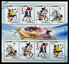 Kolumbien Colombia 2012 Olympiade London Olympics Fußball Tennis Kleinbogen MNH