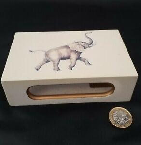 Carolyn Sheffield matchbox holder with elephant design