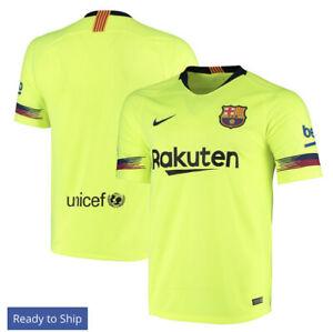 FC Barcelona Nike 2018/19 Away Replica Stadium Patch Jersey - Yellow Neon
