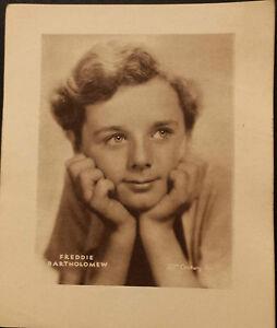 Vintage Sepia Printed Portrait:FREDDIE BARTHOLMEW appr.5.5X6 Suitable for Frame
