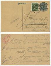 36566 - Ganzsache P 120 - ZuF - Postkarte - Pößneck 18.2.1922 nach Hamburg