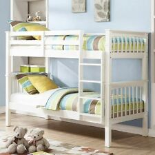 NOVARO BUNK WHITE BED SPLITS INTO TO 2 3FT SINGLE BED FRAMES FOR ADULT CHILDREN