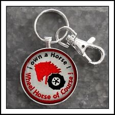Vintage Wheel Horse Tractor Shoulder Patch Photo Keychain Gift 🎁