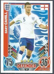TOPPS MATCH ATTAX EURO 2012- #032-ENGLAND-GARY CAHILL