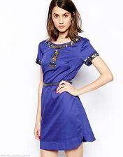 Crew Neck Short Sleeve Regular Size Tunic Dresses for Women