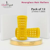 Yellow HOURGLASS HAIR ROLLERS 27mm/1.06in – Pack of 12