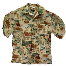 VTG NFL Originals Green Bay Packers Hawaiian Medium Button Up Short Sleeve Shirt