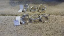 Plated Sizes 6 - 10 1/2 15 Spoon Rings lot, Handmade, Sterling Silver