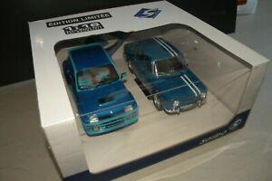 Solido pack duo 1-18em Renault 5 Turbo et R 8 Gordini 1300 cc édition limitée