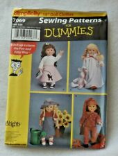 "SIMPLICITY 7069 Sewing for Dummies 18"" American Girl Doll Clothes Uncut OOP"