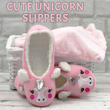 Ladies Womens Slippers Faux Fur Unicorn Slipper SALE Clearance Job Lot Size 3-8