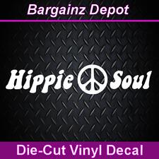 ..Vinyl Decal ... HIPPIE SOUL ... Peace Sign Car Laptop Sticker Decal