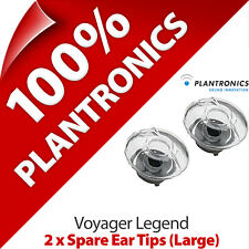 2 x Plantronics Genuine Replacement Large Ear Tips Gels Buds for Voyager Legend