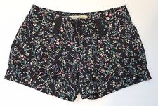 American Rag Cie Women's Cute Cotton Blend Black Flower Mini Short Shorts Size 5