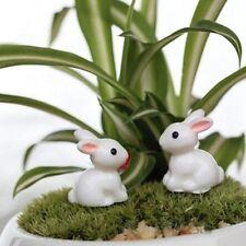 4pcs Rabbit Figure Fairy Garden Suppliers, Miniature Figurines, Diy Terrarium