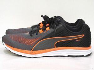 Puma Men's Speed 500 Ignite 2 Running Shoe Black/Orange 11.5 M US