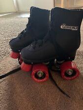 Chicago Boys Rink Roller Skate - Black Youth Quad Skates - Size J10, Chicago J10