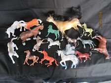 Large Plastic toy plastic horse lot for parts pieces